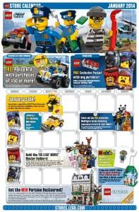 LEGO Store Calendar January 2014 - Toysnbricks
