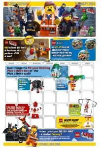 LEGO Brand Store Calendar February 2014