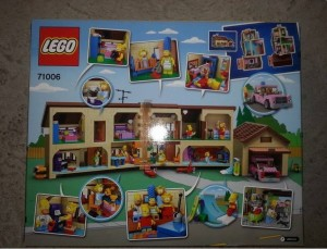 LEGO The Simpsons House 71006 Back Box (Pre)