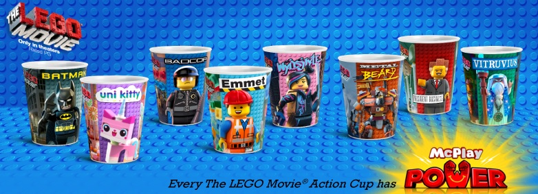McDonald's LEGO Movie Action Cups 2014 - Toysnbricks