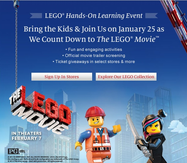 The LEGO Movie Barnes & Nobles January 2014 LEGO Event
