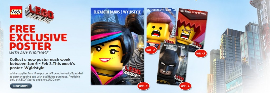 The LEGO Movie Posters 2014 Promotion