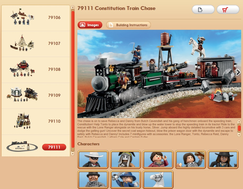 79111 LEGO Lone Rangers Constitution Train Chase