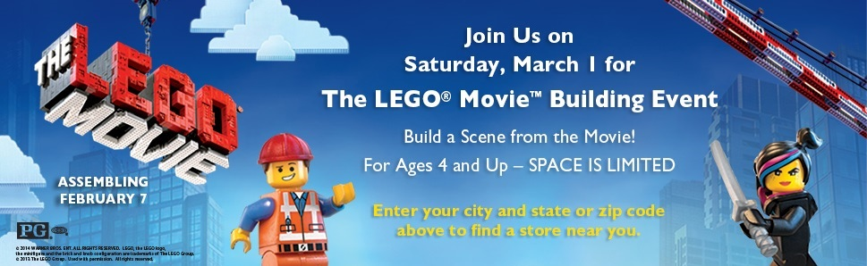 LEGO Movie Building Event March 2014 at Barnes & Nobles USA