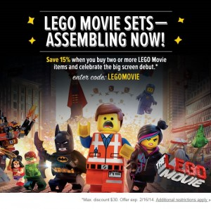 LEGO Movie Sale at Yoyo February 2014