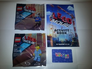 ToysRUs Canada LEGO Movie 2014 Scratch Card Gifts