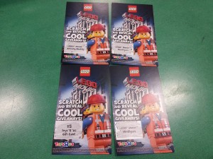ToysRUs Canada LEGO Movie 2014 Scratch Card Giveaway Promotion