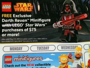 2014 May 4th Promotion LEGO Star Wars Darth Revan Minifigure