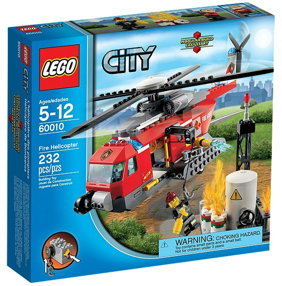 60010 LEGO City Fire Helicopter - Toysnbricks