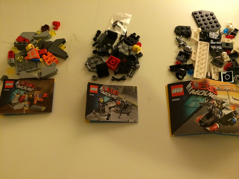 LEGO Movie Polybags 30280 Piece of Resistance, 30281 Micro Manager Battle, 30282 Super Secret Police Enforcer