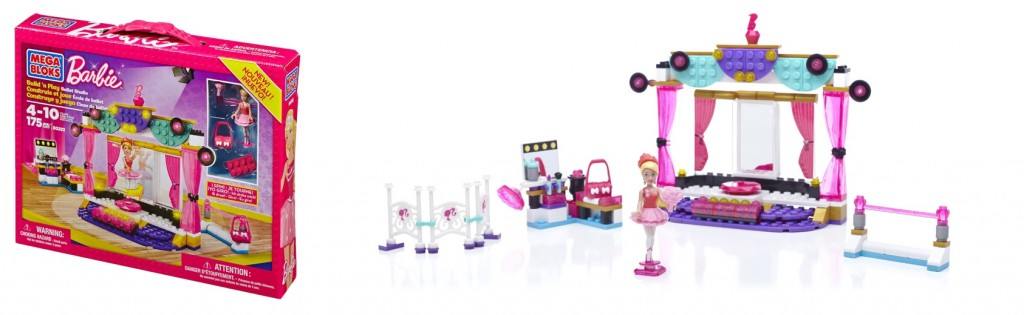 Mega Bloks Build 'n Play Ballet Studio