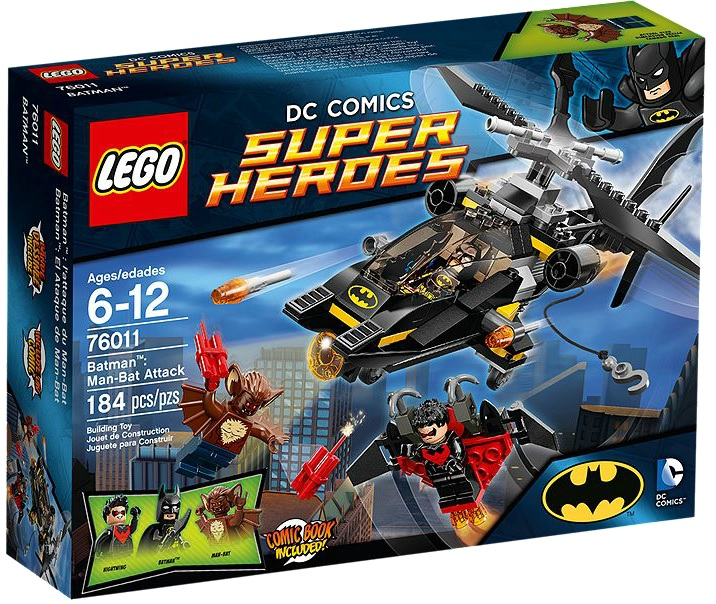 76011 LEGO Super Heroes DC Comics Batman Man- Bat Attack - Toysnbricks
