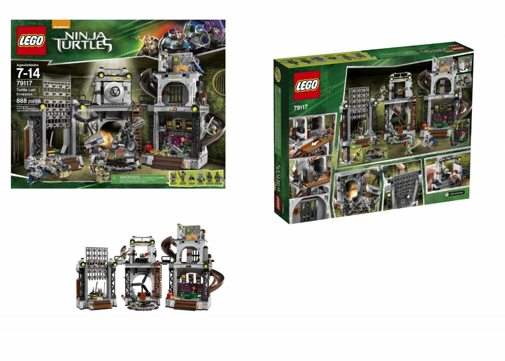 79117 LEGO Ninja Turtles Turtle Lair Invasion - Toysnbricks