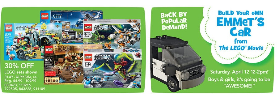 April 2014 ToysRUs LEGO Sale USA