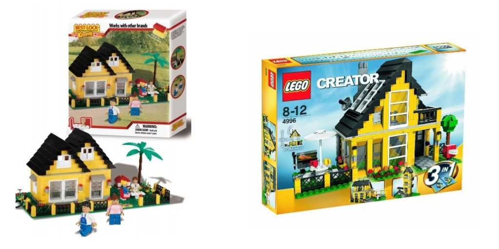 Best Lock 33061 Holiday Cottage & LEGO 4996 Creator Beach House