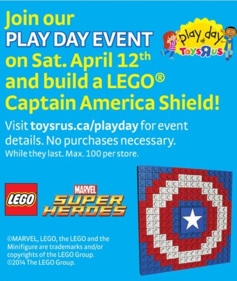 LEGO Captain America Shield Build at ToysRUs Canada April 2014