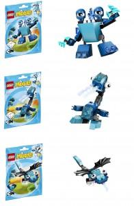 LEGO Cyan Blue Mixels 41509 41510 41511 Slumbo Lunk Flurr - Toysnbricks