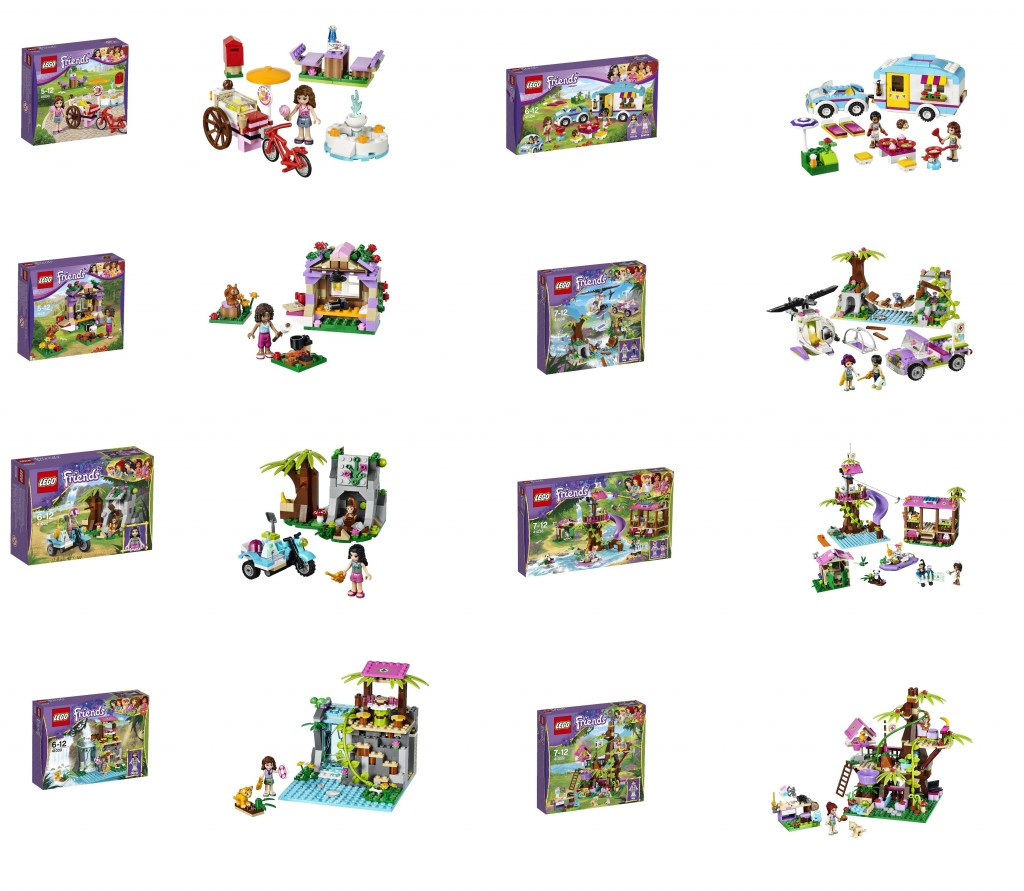 LEGO Friends Summer Jungle 2014 Sets 41030 41031 41032 41033 41034 41036 41038 41059 - Toysnbricks