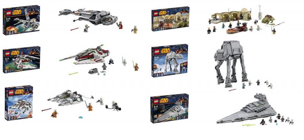 LEGO Star Wars 75049 75050 75051 75052 75054 75055 (Summer 2014) - Toysnbricks