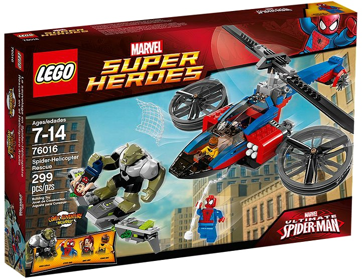 LEGO Super Heroes Spider Man 76016 Spider-Helicopter Rescue - Toysnbricks