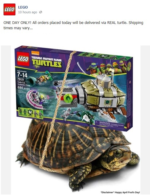LEGO Teenage Mutant Ninja Turtles 2014 April Turtle Delivery