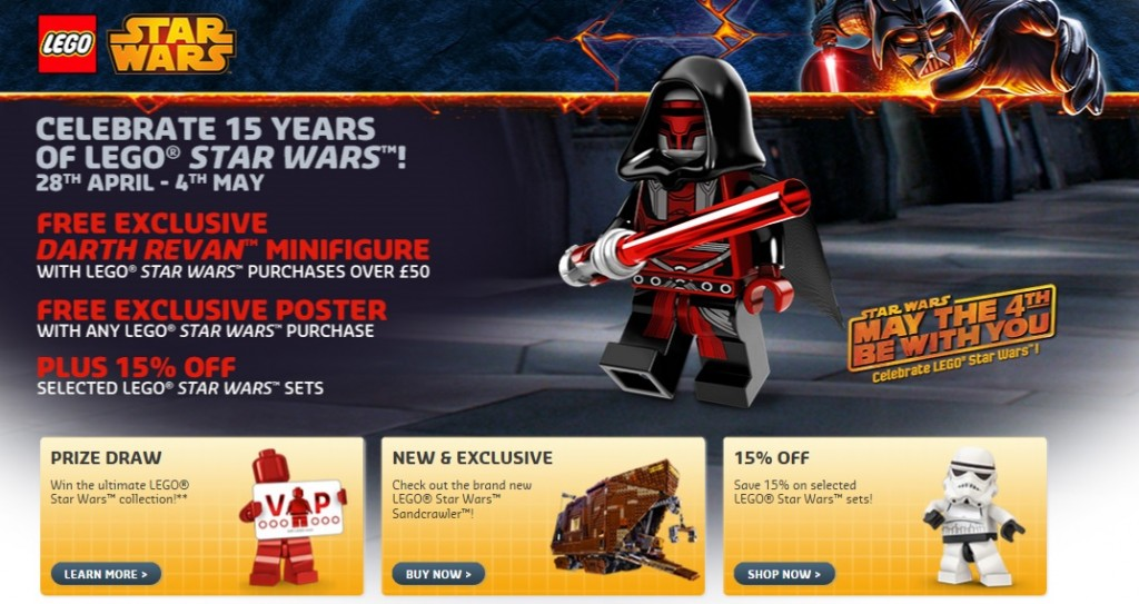 May 4th 2014 LEGO Star Wars Sale Europe UK - Toysnbricks