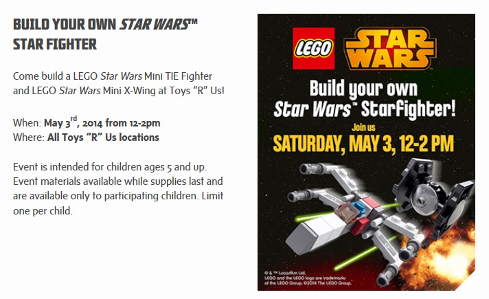 ToysRUs May 2014 LEGO Star Wars Building Event
