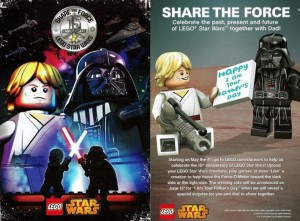 LEGO Star Wars Share the Force Poster 2014 May