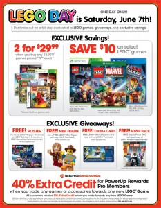 Gamestop USA LEGO Day 2014 June Sale Event