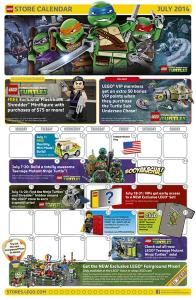 July 2014 LEGO Brand Store Calendar - Toysnbricks