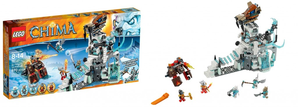 LEGO Chima 70147 Sir Fangar's Ice Fortress - Toysnbricks