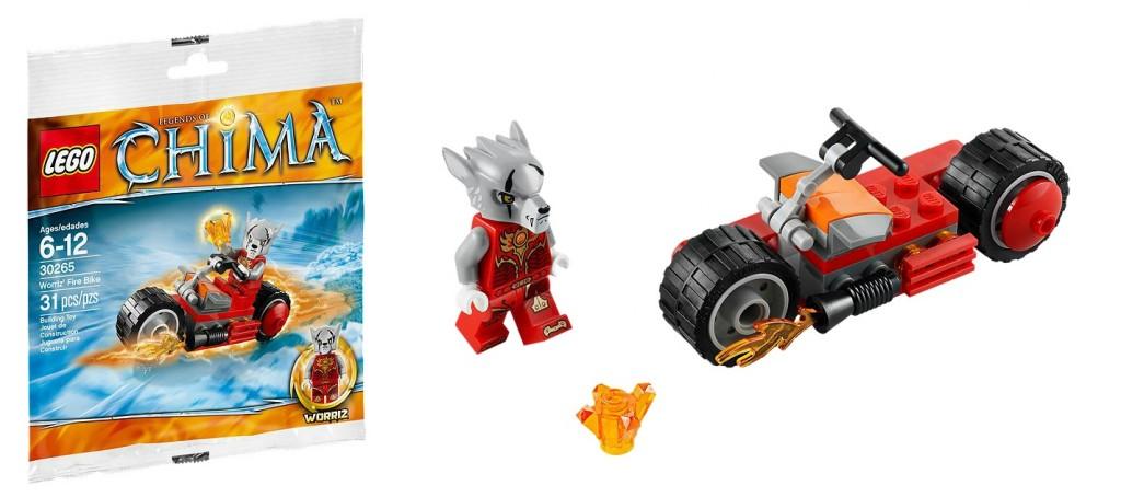 LEGO Chima 30265 Worriz' Fire Bike - Toysnbricks
