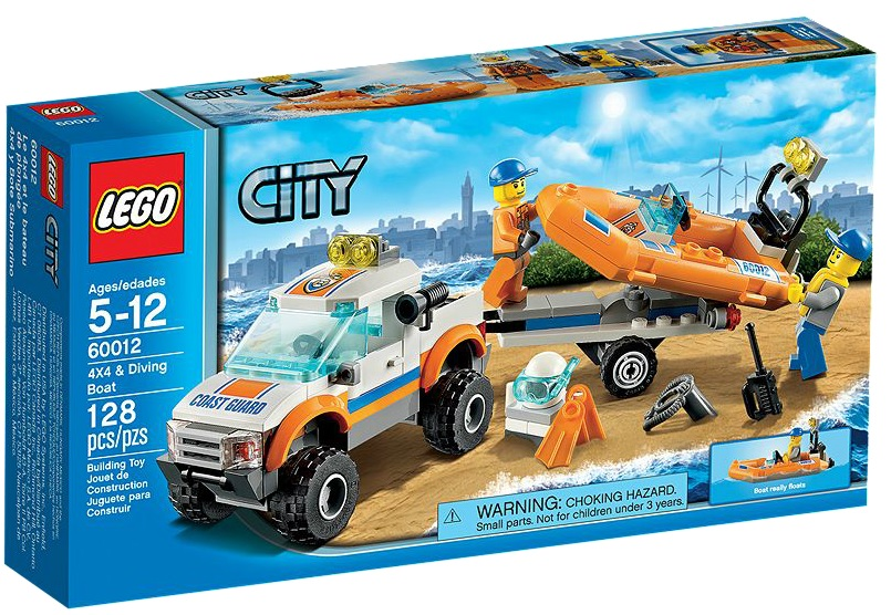 LEGO City 60012 4x4 & Diving Boat - Toysnbricks