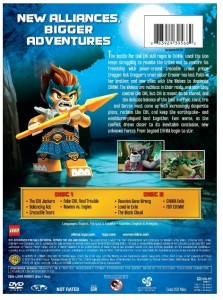 LEGO Legends of Chima Season 1 Part 2 DVD Back (2014)