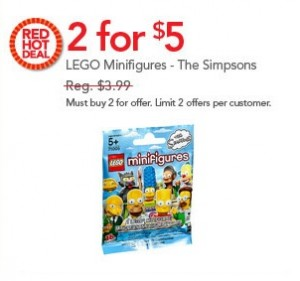 LEGO Simpsons Minifigures ToysRUs July 2014 Sale USA