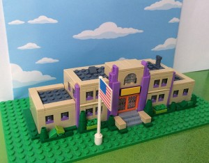 Micro Springfield Elementary School by moofer Toysnbricks LEGO Simpsons Contest July 2014