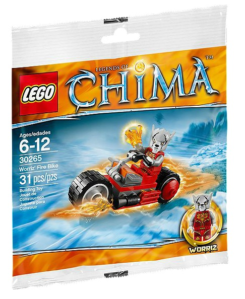 LEGO 30265 Worriz' Fire Bike Chima Polybag - Toysnbricks