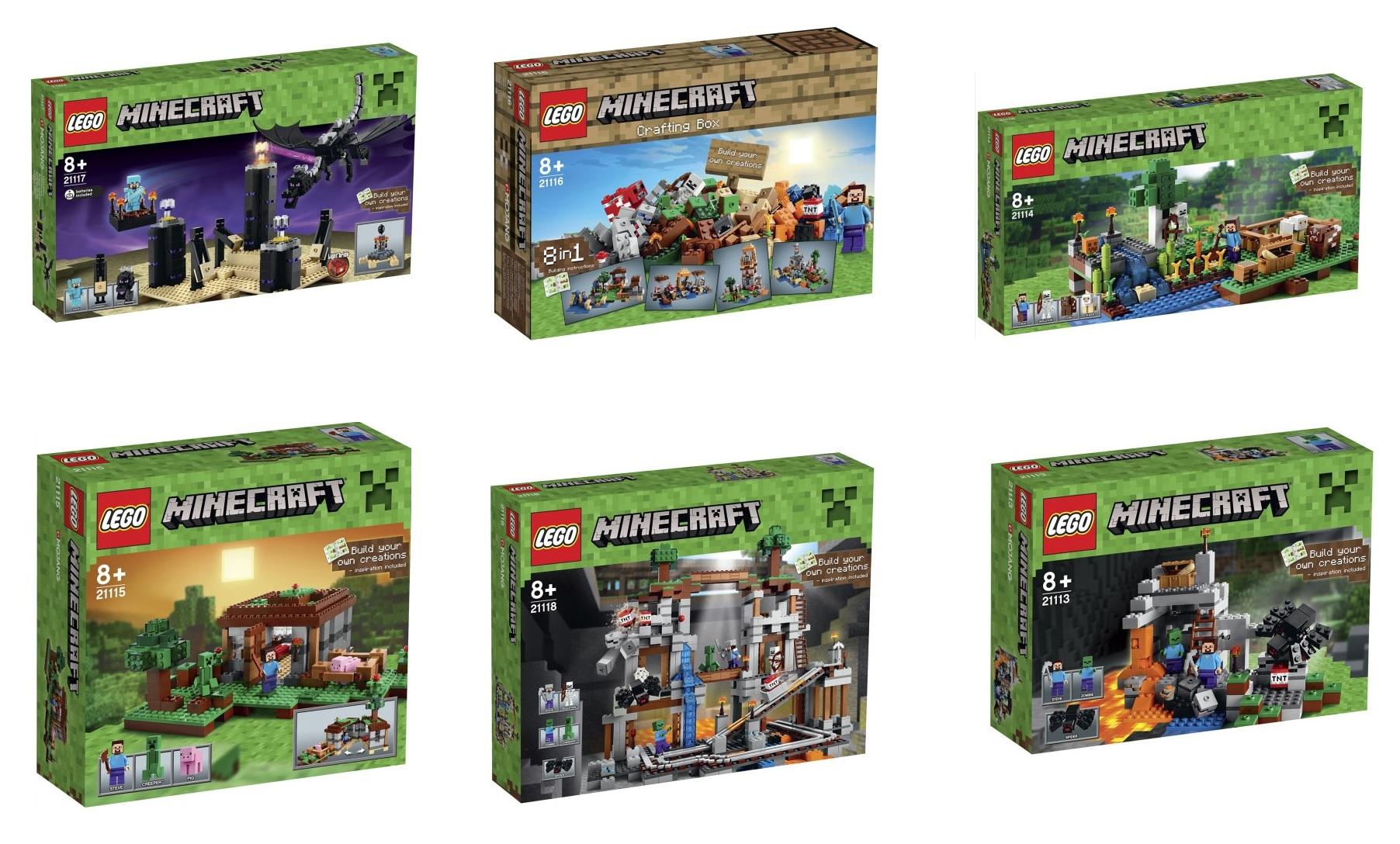 LEGO Minecraft Microworld 2015 Sets 21117 The Ender Dragon, 21116