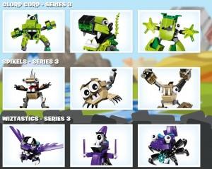 LEGO Mixels Series 3 Clorp Corp Spikels Wiztastics (41518 41519 41520 41521 41522 41523 41524 41525 41526) - Toysnbricks