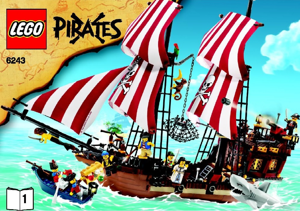 LEGO Pirates 6243 Brickbeard's Bounty Pirates - Toysnbricks
