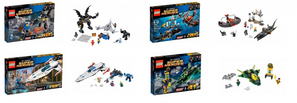 2015 January LEGO Super Heroes DC Set Pictures 76025 Green Lantern vs. Sinestro, 76026 Gorilla Grodd Goes Bananas, 76027 Black Manta Deep Sea Strike, 76028 Darkseid Invasion