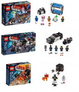 2015 LEGO Movie Pictures 70817 Batman & Super Angry Kitty Attack, 70818 Double Decker Couch, 70819 Bad Cop Car Chase