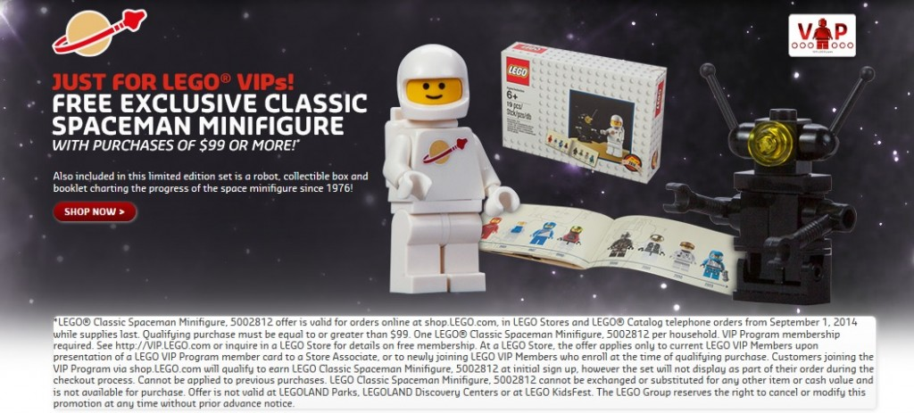 5002812 LEGO Classic Spaceman Minifigure September 2014 Promotion - Toysnbricks