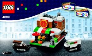 LEGO 40181 Pizza Parlour Bricktober 2014 ToysRUs Set - Toysnbricks