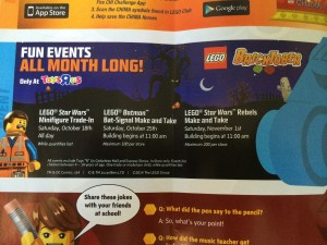 LEGO Bricktober 2014 Events at ToysRUs Canada