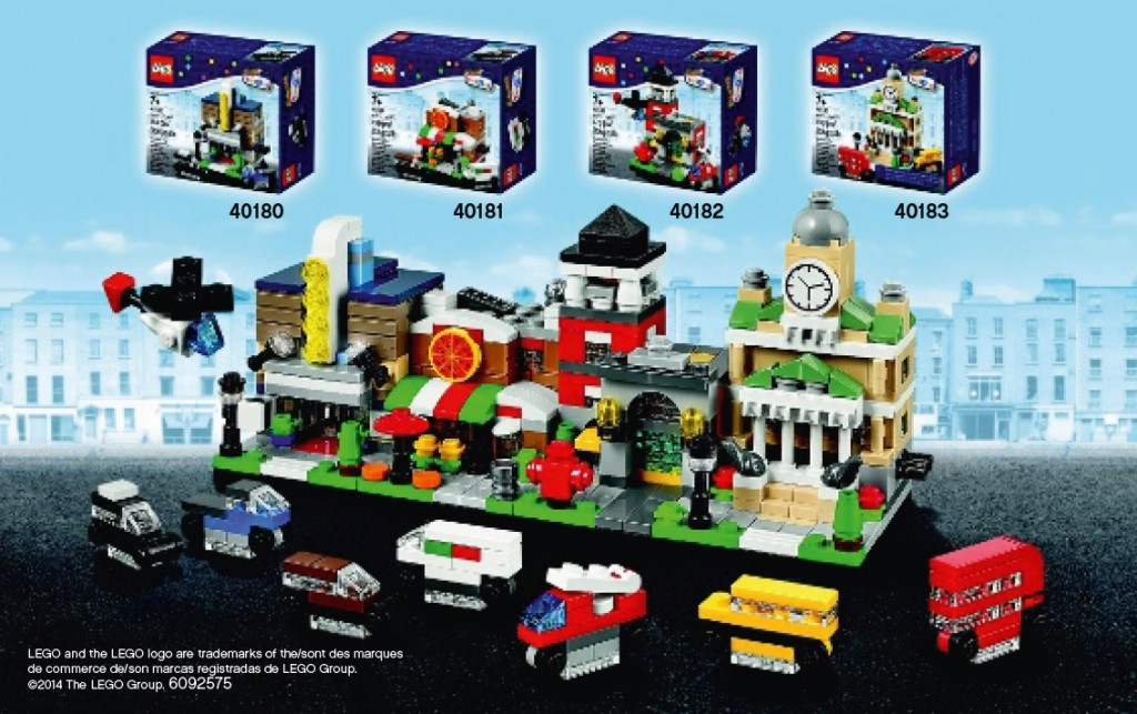 LEGO Bricktober October 2014 Exclusive Mini Modular Sets 40180 40181 40182 40183 - Toysnbricks