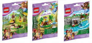 LEGO Friends Series 5 Pets & Animals 41044 Macaw's Fountain, 41045 Orangutan's Banana Tree, 41046 Brown Bear's River - Toysnbricks