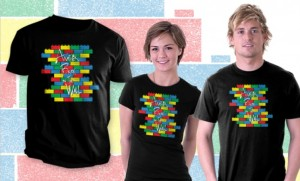 LEGO T-Shirt Brick in the Wall Teefury September 2014