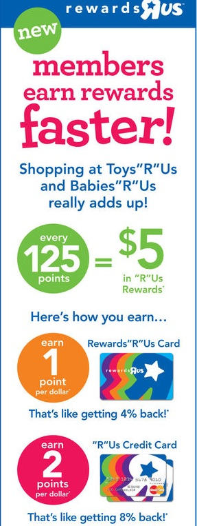 Toys 'R' Us should want to reward Dustin handsomely. He has five kids, and his family buys an awful lot of toys there. It's not the store itself but its rewards program that's giving him.