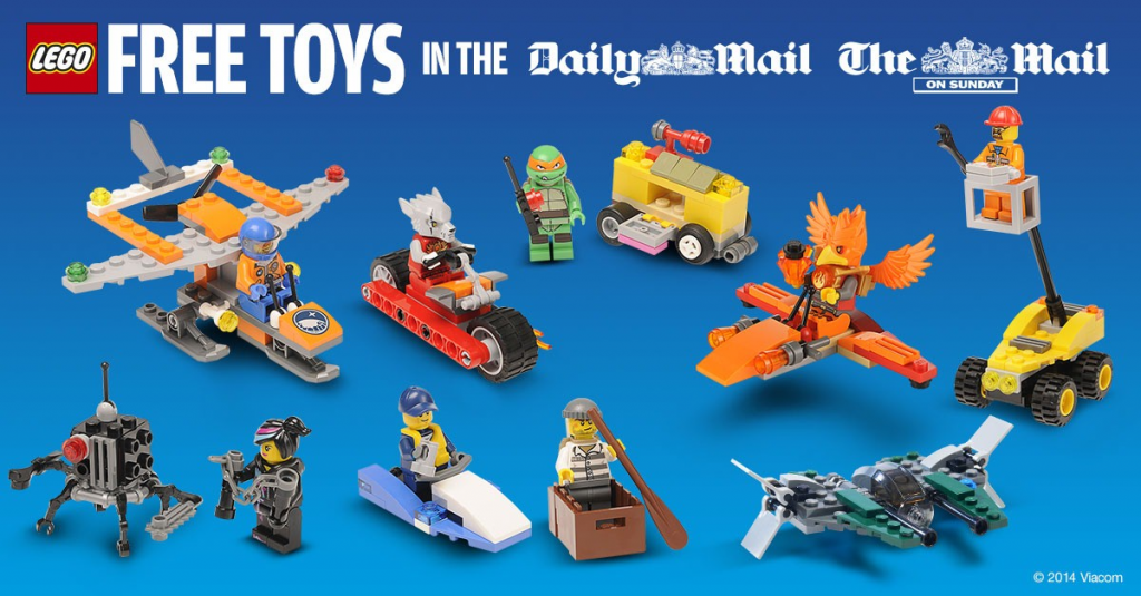 TheDailyMail & The Mail Newspaper LEGO Promotion 2014 UK